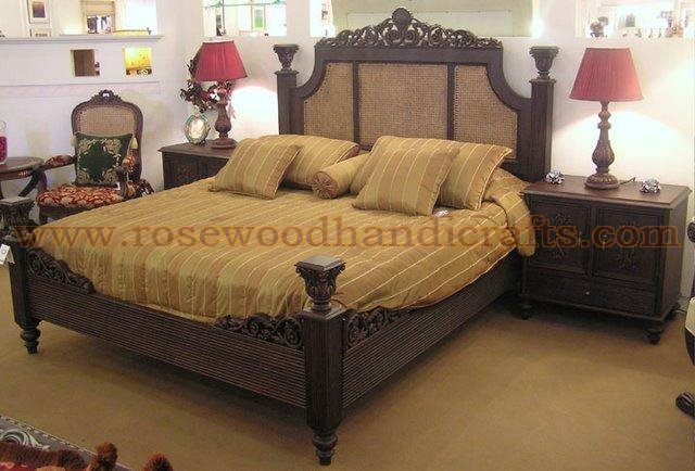 Wooden Cane Bed