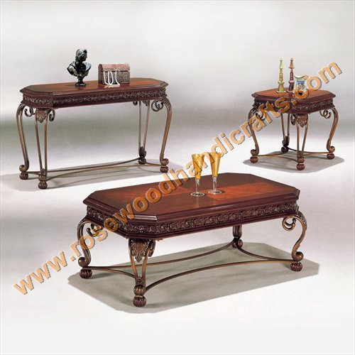 Rosewood Coffee Table Set