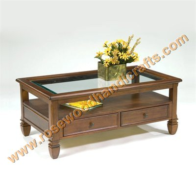 Product Code:: WCT 08. Price:: On Inquiry Raw Material:: Sheesham Wood (  Rosewood ) Detail:: Coffee Table Set ( 1 Centre Piece, 2 Sides)
