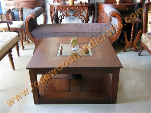 Square Coffee Table With Double Top