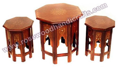 Octagonal Coffee Table Set