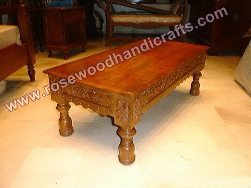 Coffee Table Carved Borders