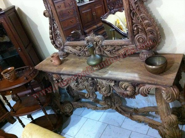 Wooden Full Carved Console Table