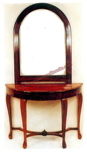 Wooden Console With Mirror