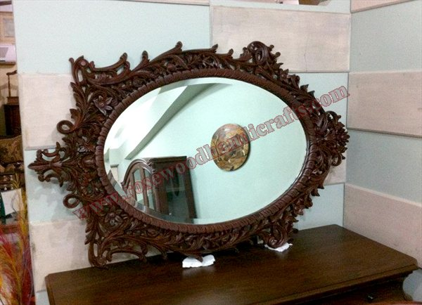 Wooden Mirror Frame Full Carved