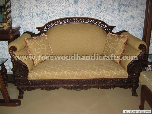 Backless Couch Wooden Sala Set Wood Couch Love Seat