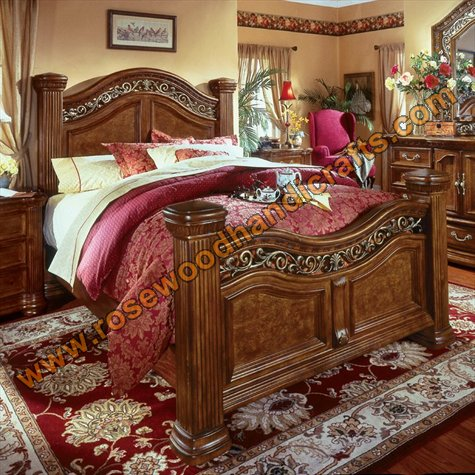 Wooden latest beds wooden bed set rosewood bed set for Bedroom designs pakistani