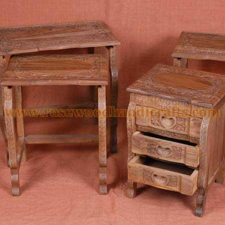 Wooden nesting tables rosewood nesting table wooden carved nesting wooden nesting table watchthetrailerfo
