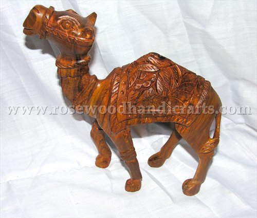 Wooden Caving Camel