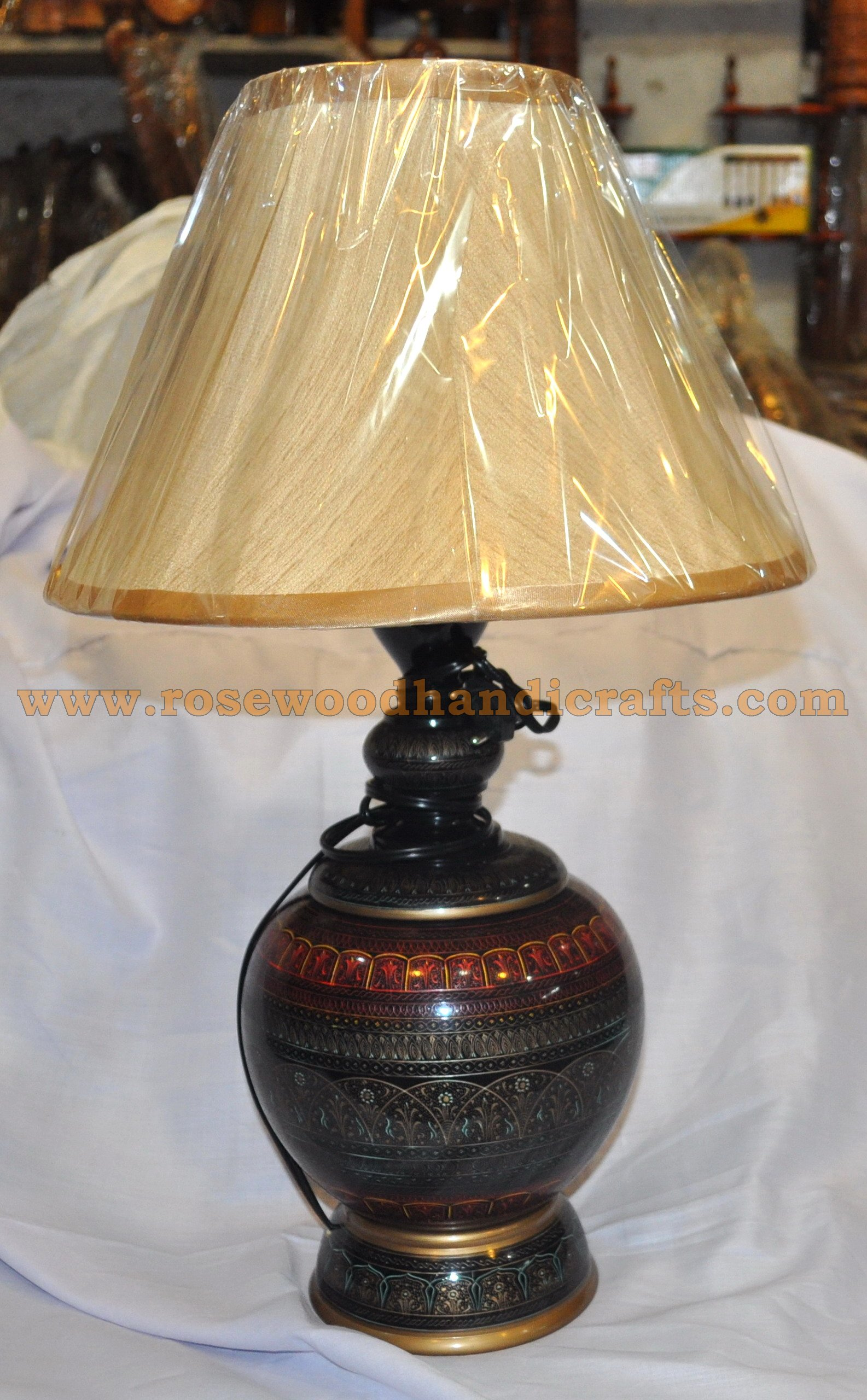 Wooden Lacquer Table Lamps Rosewood Lacquer Table Lamps