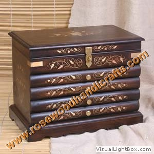 Wooden Jewelry Box Wooden Jewelry Chest Wooden Jewellery Box
