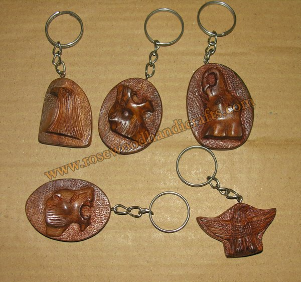 Wooden Animal Shape Key Chains