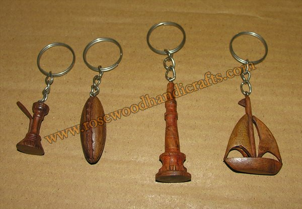 Wooden Different Shape Key Chains