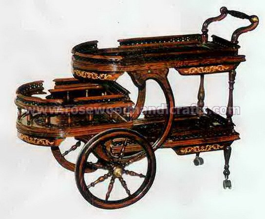 Rosewood Tea Cart Tree Flappers