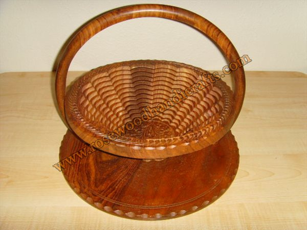 Wooden Single Compartment Spring Basket