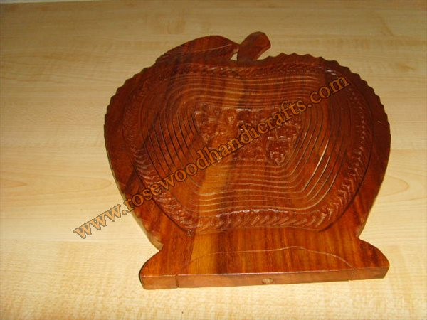 Wooden Apple Shape Fruit Basket<